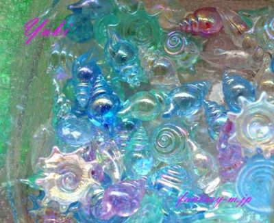 海の中の貝殻みたい