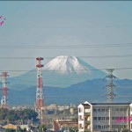 ベランダから見える富士山