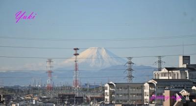 富士山真っ白