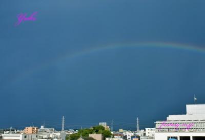 西の空に虹が